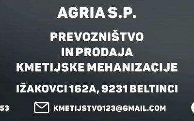 Prevozništvo in prodaja kmetijske mehanizacije, AGRIA, Zdenka Domitric s.p.
