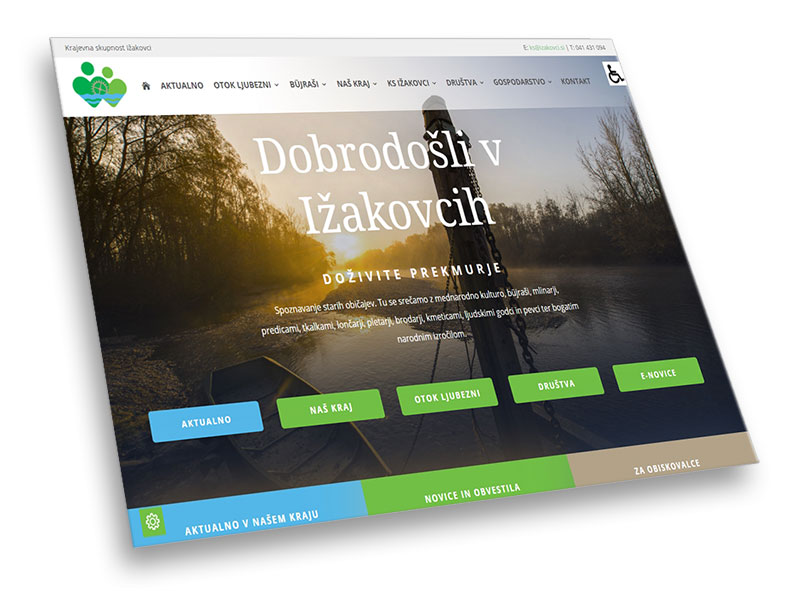 Novi spletni strani na pot
